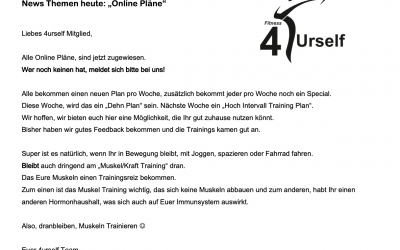 4urself News.     Update 23.03.2020